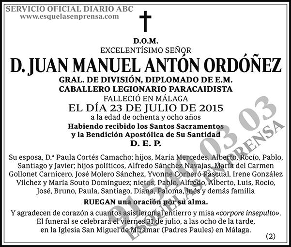 Juan Manuel Antón Ordónez